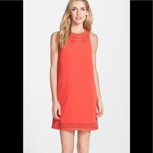 "Trina Turk Laser Cut ""Lucia"" Crepe/A-Line Dress"